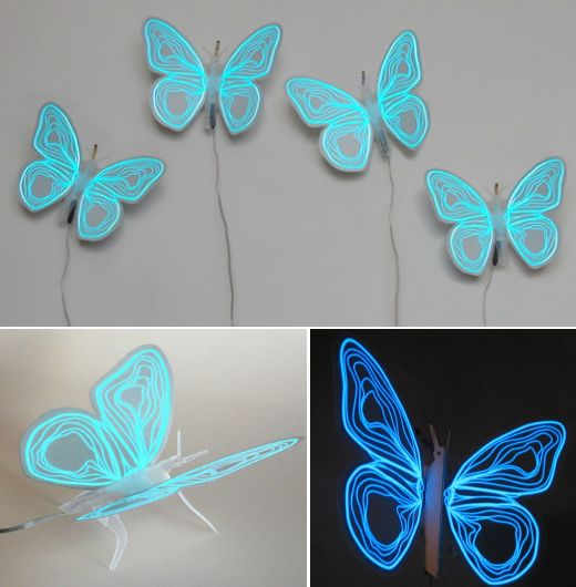 Electroluminescent Butterfly: Sixties Band or Light Fixture?