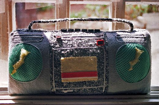 Fabric Boombox by VeryNiceDolls