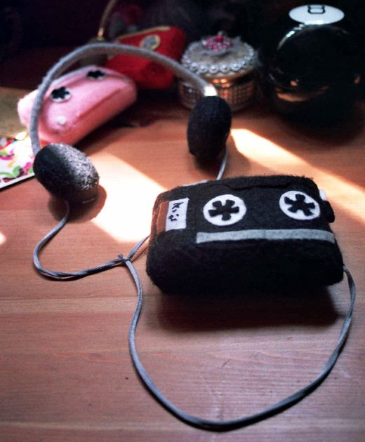 Fabric Walkman by VeryNiceDolls
