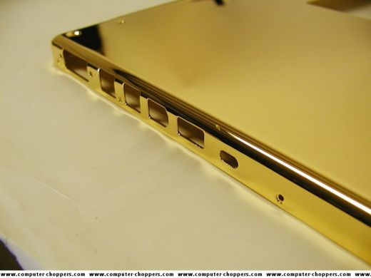 Gold MacBook Pro from Computer Choppers