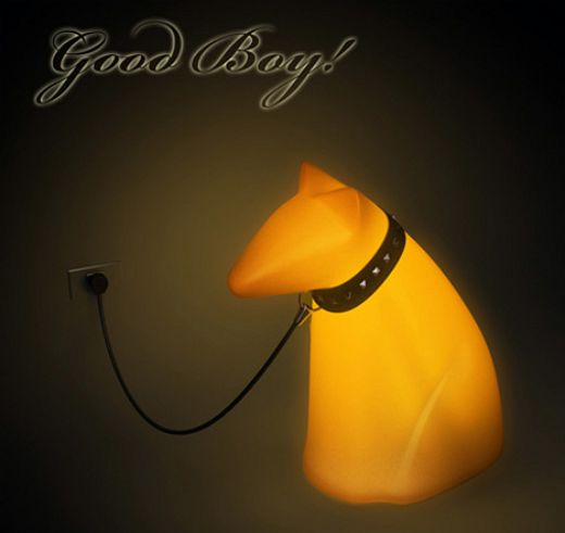 Guide Dog Lamp Lights Up When You Call It