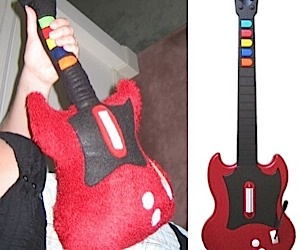 Guitar Hero Controller Gets Stuffed