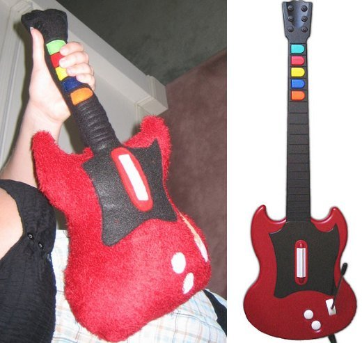 Guitar Hero Plush Controller by Poisonholly