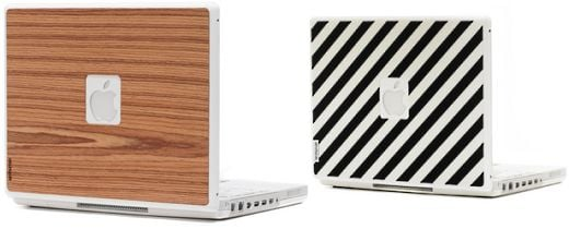 Wood and Textile Laptop Skins by Iamhuman
