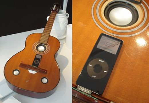 Old Guitar Gets New Life as iPod Dock