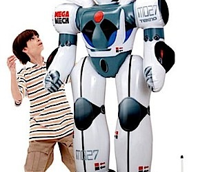 Giant Inflatable Talking Robots Invade Wal-Mart