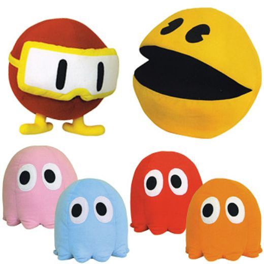 Pac-Man and His Namco Pals in Pillow Form