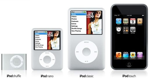 New iPods Fall 2007