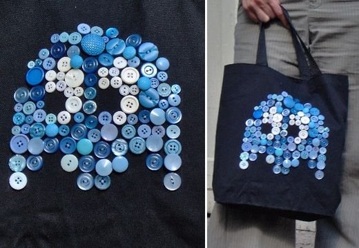 Pac-Man Inky Ghost Bag by Hobocampcrafts