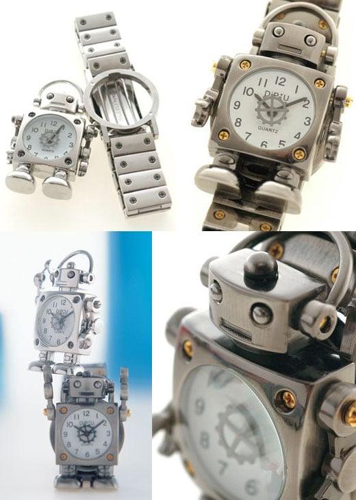 Robot Watch Transforms Into Tiny Desk Clock