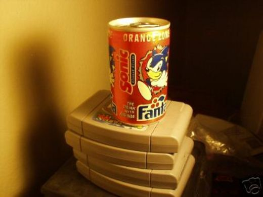 Sonic The Hedgehog Soda Can