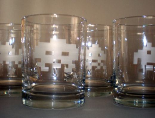 space invader rocks glasses