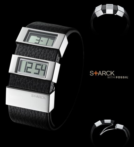 Phillipe Starck LCD Segmented Watch for Fossil