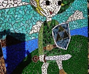 Zelda Mosaic Immortalizes Link in Stained Glass