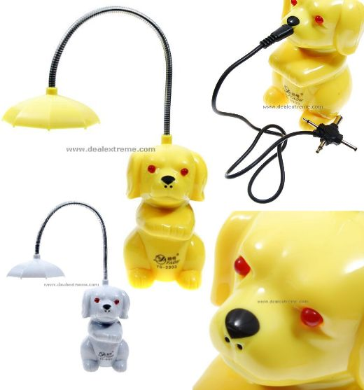 awful dog lamp