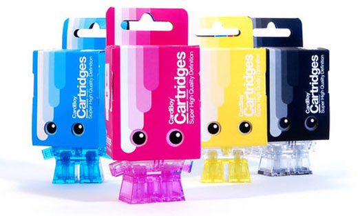 Cardboy CMYK Figurines by Mark James