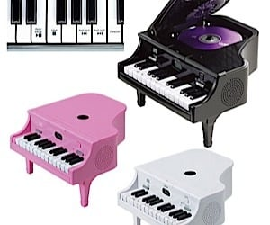 Tiny Piano Conceals CD Player