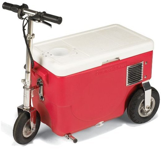 Cooler Scooter Chills Drinks at 14 Mph