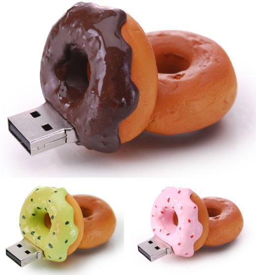 Donut USB Flash Memory Drives