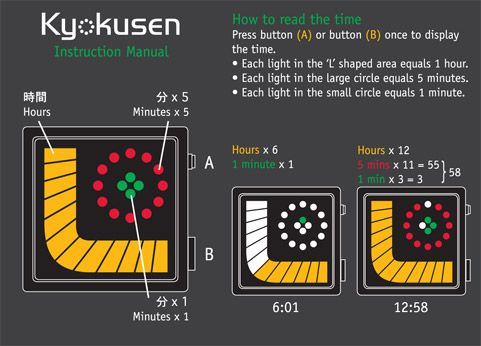 TokyoFlash Kyokusen LED Watch Instructions
