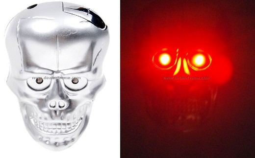 Glowing Scary Deaths-Head Toy
