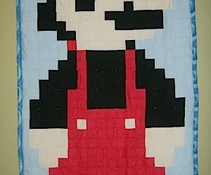 Mario Pixel Quilt Lets You Sleep With Your Plumber
