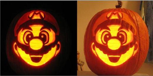 Mario Jack O Lantern