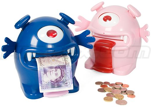 Monster Piggy Banks Eat Your Money for Lunch