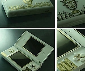 Nintendo Ds Lite Gets Gold Plated Accents