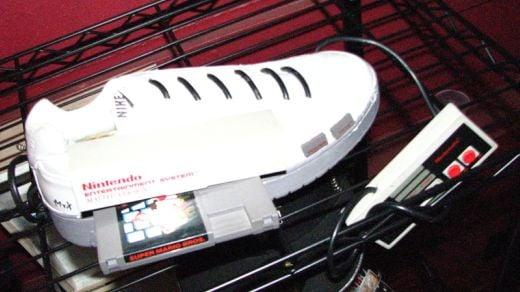 Nintendo NES Crammed in a Sneaker
