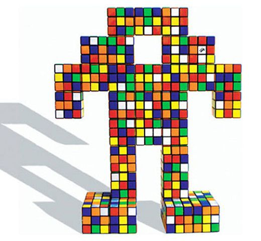 Rubik's Robot by Artist Space Invader
