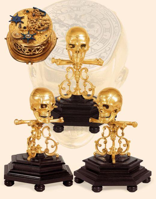 Skull Automaton Clock