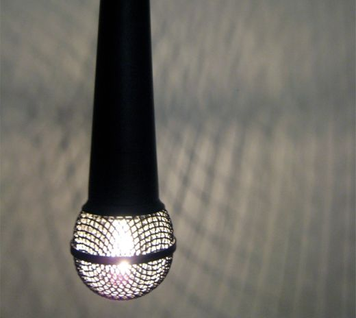 SOLO Microphone Lamp by Donna Jo Bradley