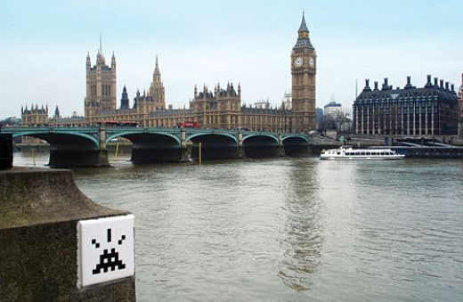 Space Invaders hit London