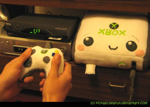 Xbox 360 Plush by Kickass-Peanut