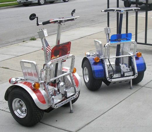 Blue and Red Segways