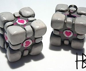 Portal Companion Cube Accompanies You Anywhere
