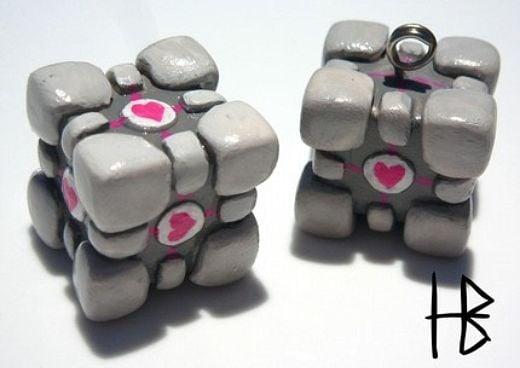 Portal Companion Cube Pendant