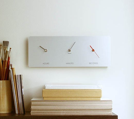 Just a Moment Clock by Reddish Studio
