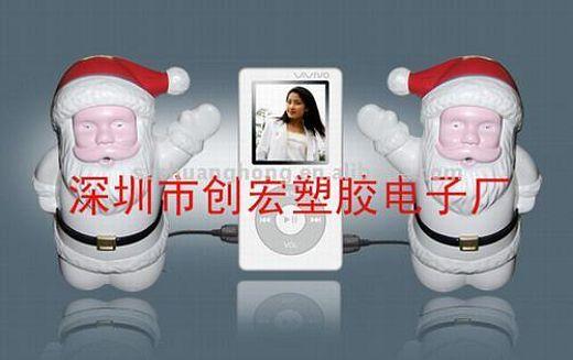Santa Claus iPod Speakers: Ho Ho Hum