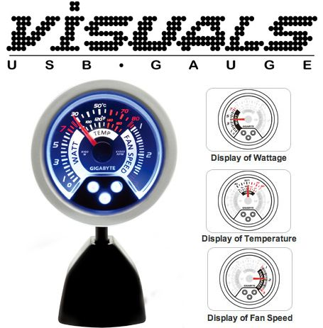 Visuals USB Gauge by Gigabyte