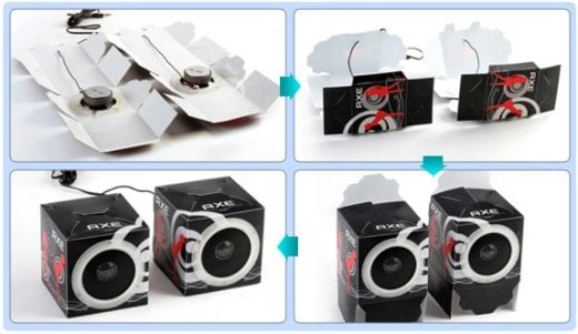 Xenics Music Cube Cardboard Speakers