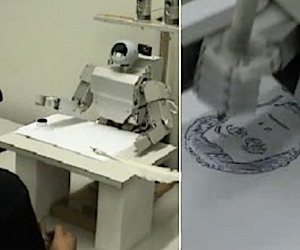 Robot Artist Draws Portraits