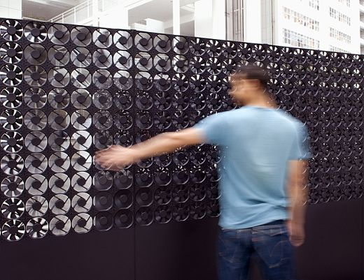 Hundreds of Box Fans as Interactive Art