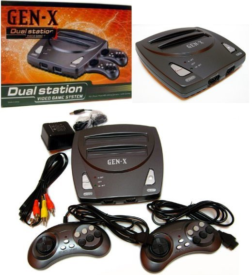 gen-x dual station plays sega genesis and nes games