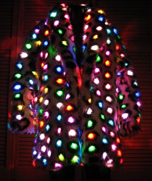 LED Faux Fur Pimp Coat is a Sight to Behold