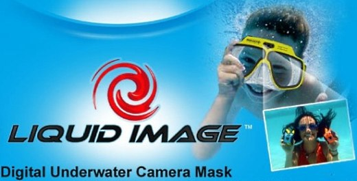 Underwater Digital Camera Built Into Swim Mask