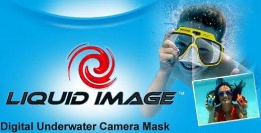 Underwater Digital Camera Built Into Swim Mask