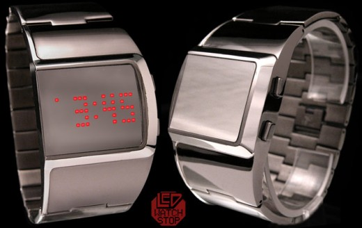 Reflection Red LED Watch