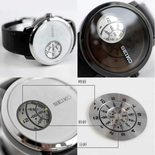 seiko moving image discus watch